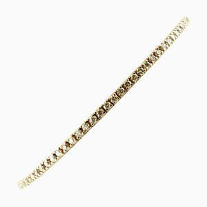 2.93 Carat Diamond and Rose Gold Tennis Bracelet