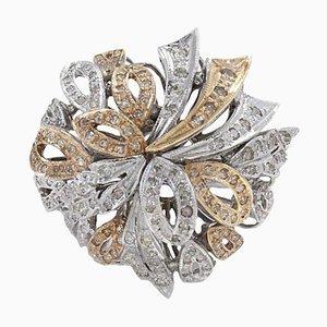 Bague Multi Ruban Diamant et Or 14K