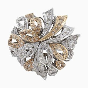 Multi Ribbon Diamond & 14K Gold Ring
