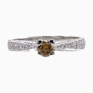 Bague Solitaire Diamant et Or