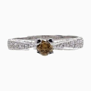 Diamond & Gold Solitaire Ring