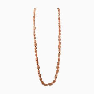 Orange oder Rosa Korallen Multi-Strang Perlen Halskette