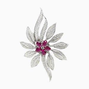 Pendentif Artisanal en Or 18K, Diamant et Rubis