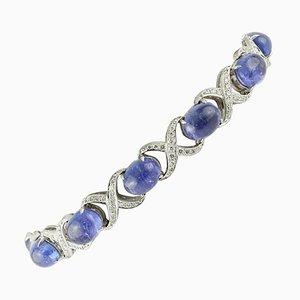 Bracelet à maillons en or blanc 18 carats et diamants