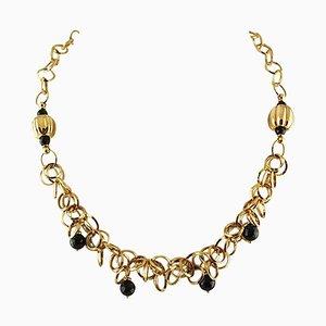 Onyx & 18 Karat Yellow Gold Necklace