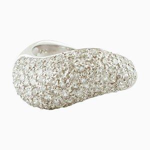 White Diamond & 18 Karat White Gold Fashion Ring