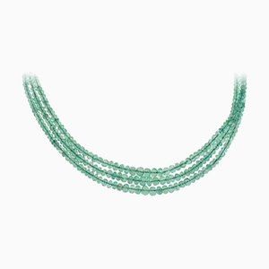 Multi-Strang Smaragde & Gold Choker Halskette
