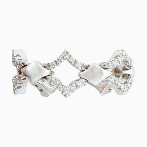 Small White Diamond & 18 Karat White Gold Ring