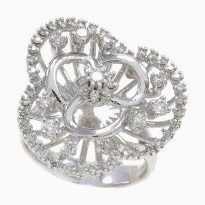 Fashion Ring aus 18 Karat Weißgold