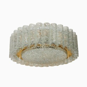 Mid-Century Kronleuchter aus Glasröhrchen von Doria Lichtenwerken