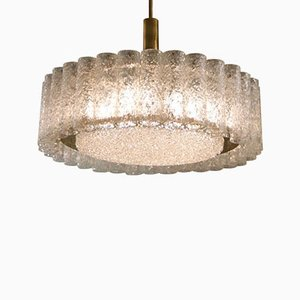 Mid-Century Glass Tube Chandelier by Doria Lichtenwerken