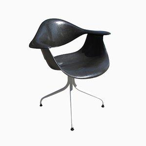 Sedia DAF nera di Charles Pollock di Herman Miller
