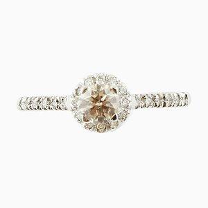 Diamond & 18 Karat Gold Solitaire Engagement Ring