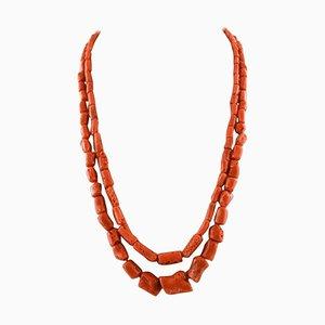 Doppelte Korallen Halskette