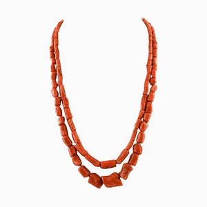 Double-Strand Coral Necklace