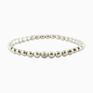 Armband aus Diamanten und 18 Karat Weißgold mit Perlen