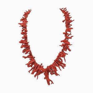 Italian Coral Branchas Necklace
