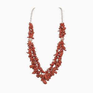 Italian Coral Multi-Strands Necklace