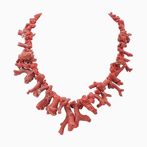Italienische Korallen Zweig Halskette