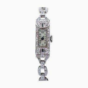 Diamond & Platinum Bracelet Wristwatch