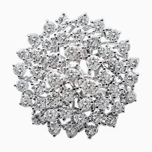 2,94 Karat Diamant & 18 Karat Weißgold Ring