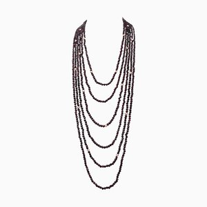 Garnet Multi-Strand Necklace