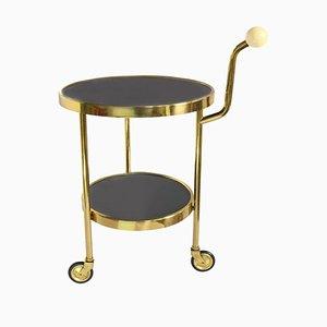 Art Deco 2-Tier Serving Bar Cart in Glass, 1960s