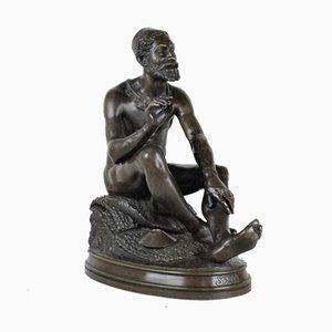 Bronze Arab Storyteller Sculpture by Ponsin Andarahy, 19th Century