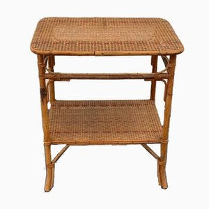 Wicker and Bamboo Coffee Table, 1930s