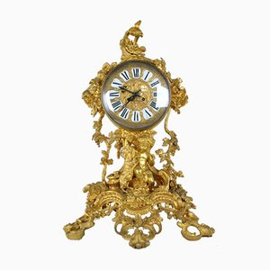Horloge Napoléon III Jeune Bacchus en Bronze Doré, 19ème Siècle