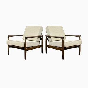Oak Kolding Armchair in Wool by Erik Wørts for Ikea, 1960, Set of 2