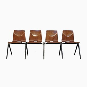 S22 Thur Op Seat School Chairs by Elmar Flototto for Pagholz / Galvanitas, 1960s, Set of 4