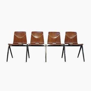 S22 Thur Op Seat Schulstühle von Elmar Flototto für Pagholz / Galvanitas, 1960er, 4er Set