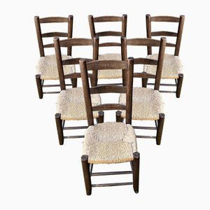 Chairs in the Style of Charlotte Perriand, 1950, Set of 6