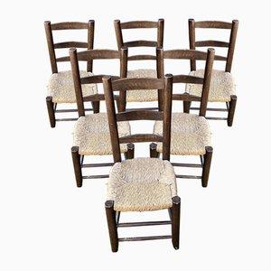 Chaises dans le Style de Charlotte Perriand, 1950, Set de 6