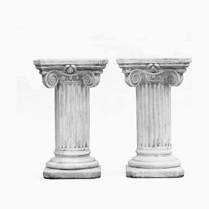 Vintage Neoclassical Columns, Set of 2