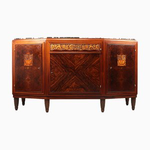 Art Deco Sideboard in Amboyna and Rosewood, Paris, 1925s