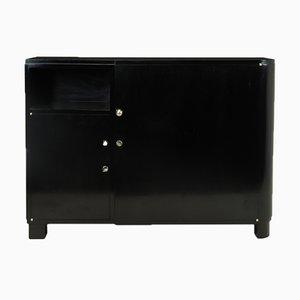 Art Deco Sideboard mit schwarzem Klavierlack, 1930er