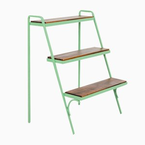 Green Plant Holder with 3 Shelves, 1960s