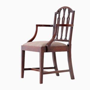 George III Sheraton Style Elbow Chair in Mahogany