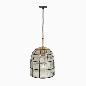Lámpara de techo modelo 4184 Mid-Century de vidrio de Limburg, Alemania, años 60