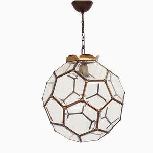 Austrian Secessionist Art Nouveau Pentagonal Ceiling Lamp by Adolf Loos, 1940