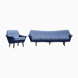 Modernes skandinavisches Wohnzimmer Set aus Samt von Holm Fabriker AB, 1960er, 2er Set