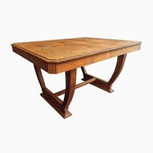 Antique Art Deco Oak Dining Table