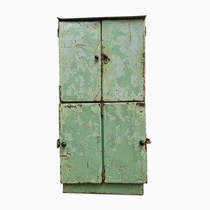 Industrial Locker Cabinet in Green Steel
