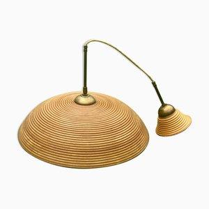Pencil Reed Rattan Bamboo Pendant Lamp