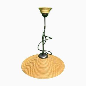 Lámpara colgante Pencil Reed de ratán y bambú