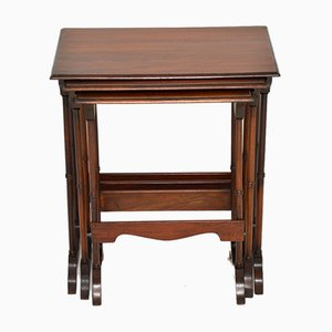 Antique Nesting Tables, Set of 3