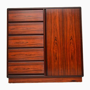 Vintage Danish Gentleman's Wardrobe and Chest of Drawers by Brouer