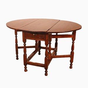 Gateleg Tisch aus Eiche, 18. Jh